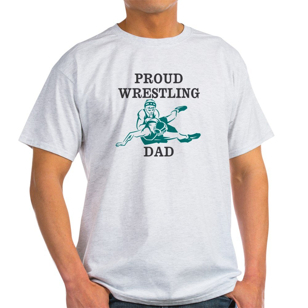 ffda0ab4 Amazon.com: CafePress Proud Wrestling Dad T-Shirt Cotton T-Shirt: Clothing