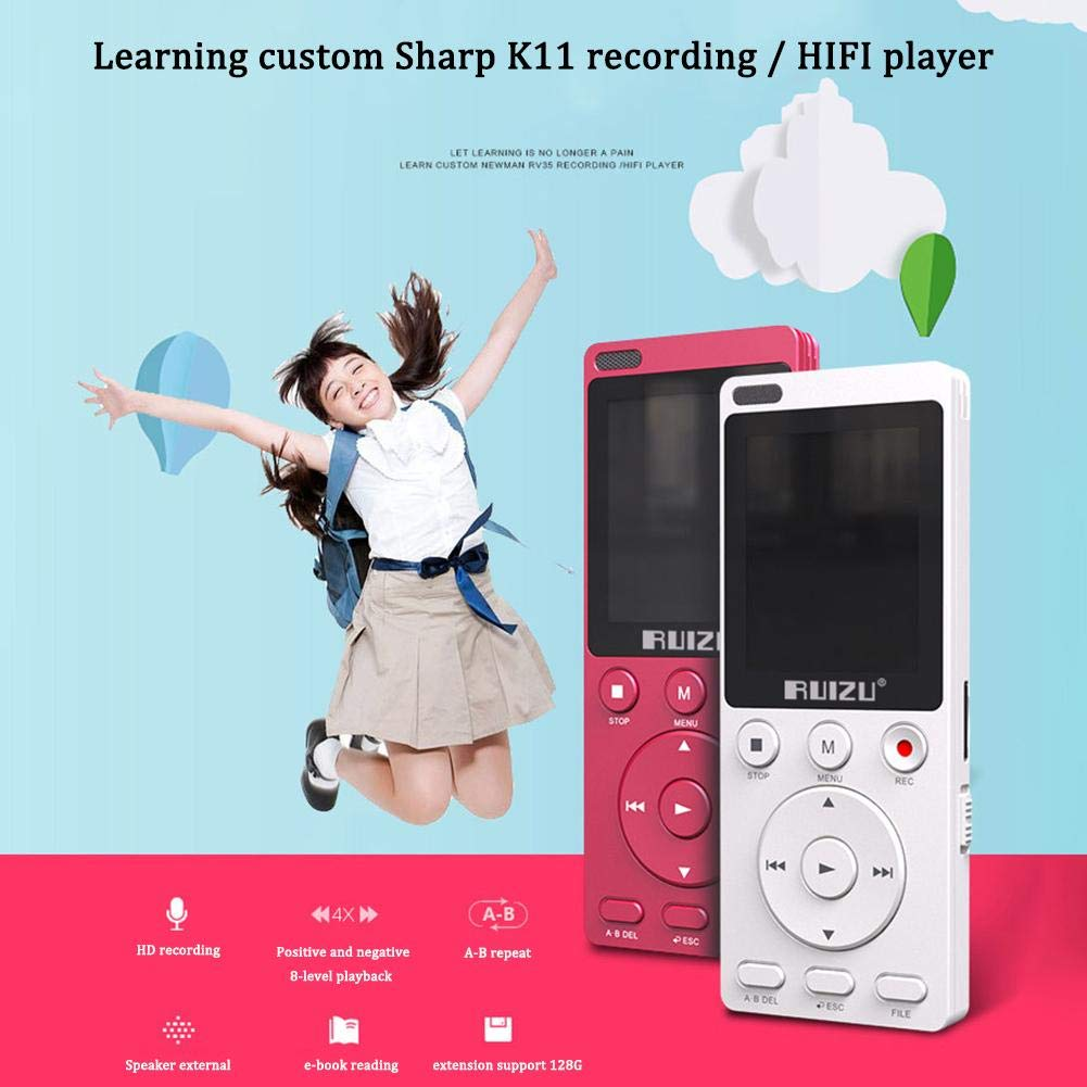 Gereton MP4 English Listening Player 8GB Built-in High Capacity Learning Machine Student Recorder Repeatable Shift Multifunction MP3 by Gereton (Image #2)