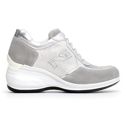 Nero Giardini donna sneakers beige grigie P805070D scarpe primavera estate 2018