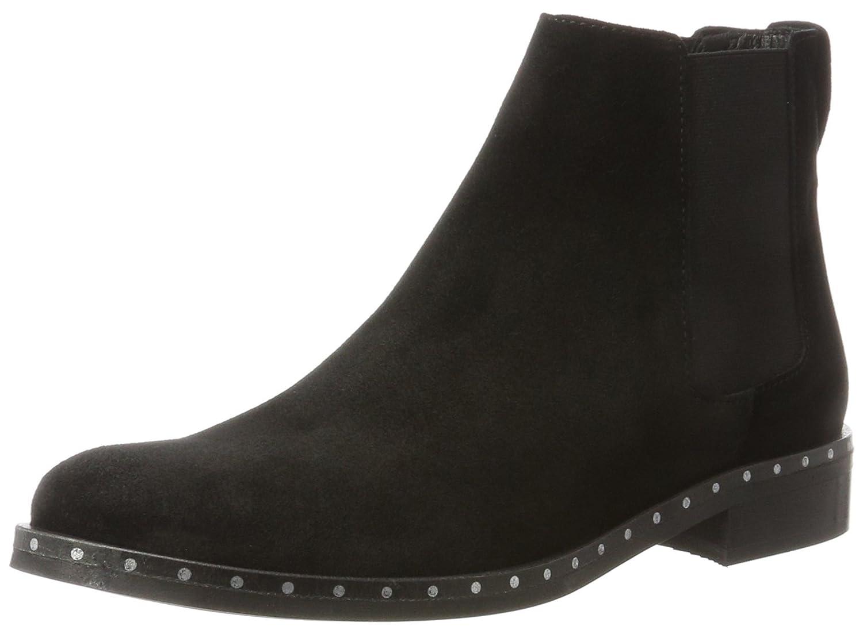 Bianco Boots Mit Feinen Nieten, Botas Chelsea para Mujer37 EU|Negro (Black 10)