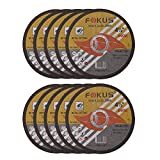 FOKUS Ultra Thin Disc 4-1/2'' by 0.045'' Metal and Stainless Steel Cut Off Wheels 7/8'' Arbor Pack of 10
