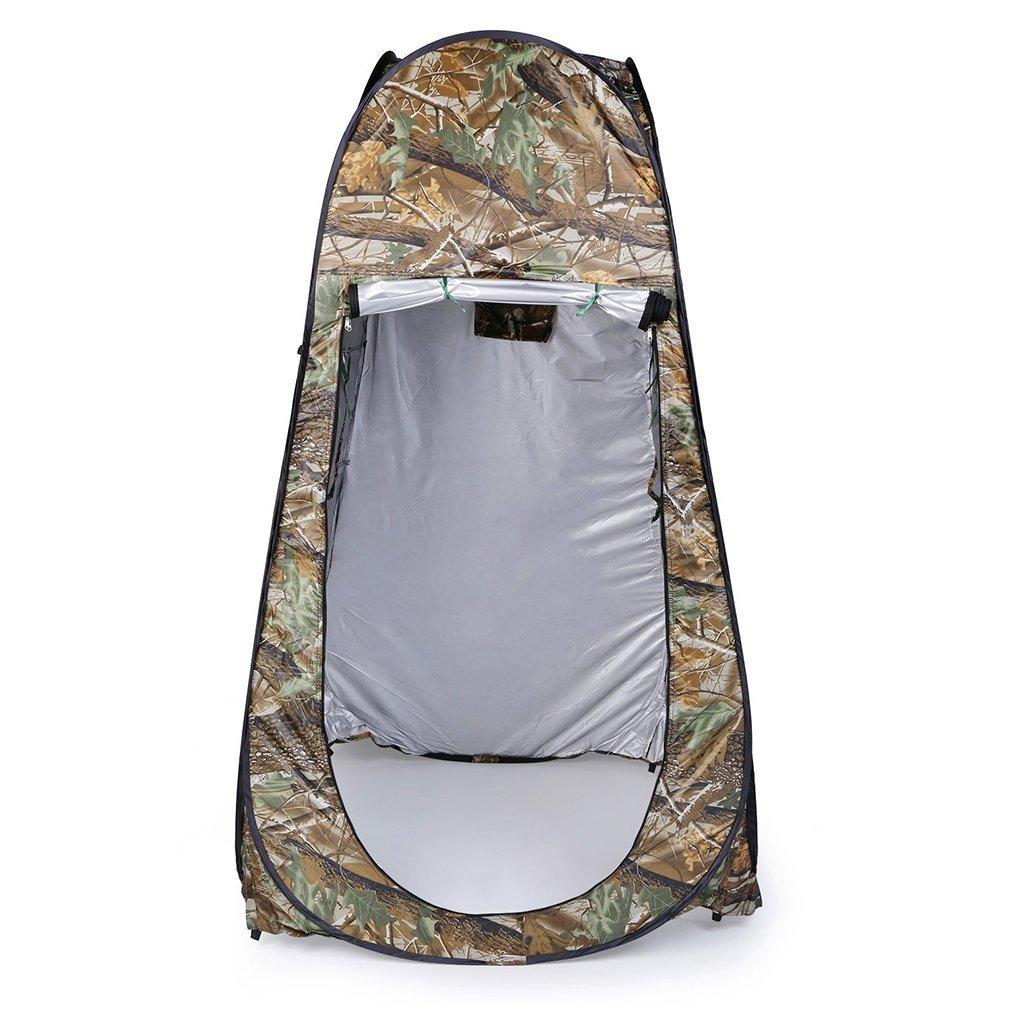 EleFRotaOm Portable Outdoor /étanche Easy Open 180T Tente Camping Plage Douche vestiaire Pliable avec Sac Camouflage