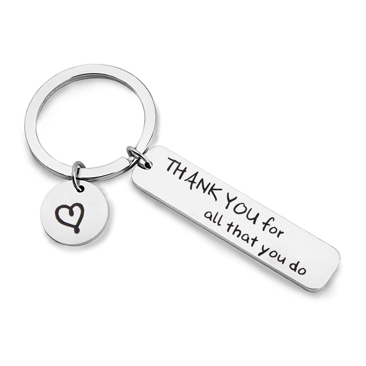 MAOFAED Appreciation Gift Thank You For All That You Do Cuff Bracelet Thank You Gift for Nurse Teacher Coach Employee (Thank you Keychain) by MAOFAED (Image #1)