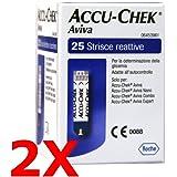 2x ACCU Chek Aviva DA 25 - 50 Streifen reaktive für Test Blutzucker - ACCU check