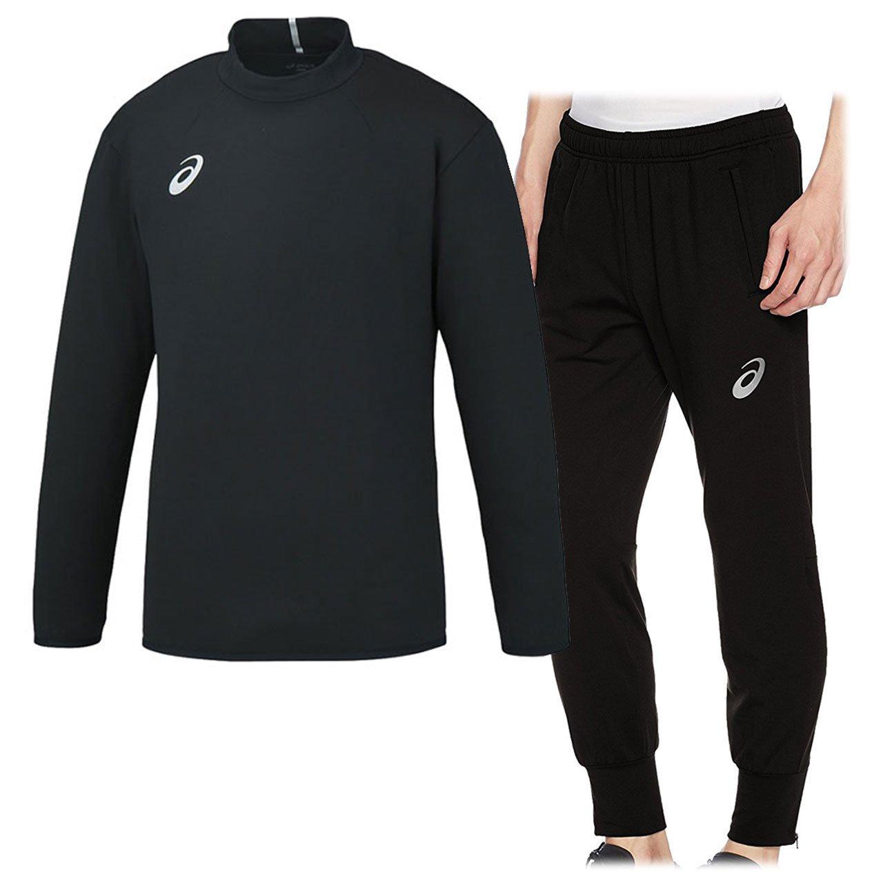 アシックス(asics) ストレッチトレーニングジャケット&トレーニングパンツ 上下セット(ブラック/ブラック) XST180-90-XST280-90 B075WSX47Q XL|ブラック/ブラック ブラック/ブラック XL
