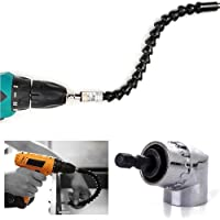 ZHUOTOP 105 Angle 1/4 6mm Extension Hex Drill Bit with 300mm Flexible Shaft Bits Screwdriver
