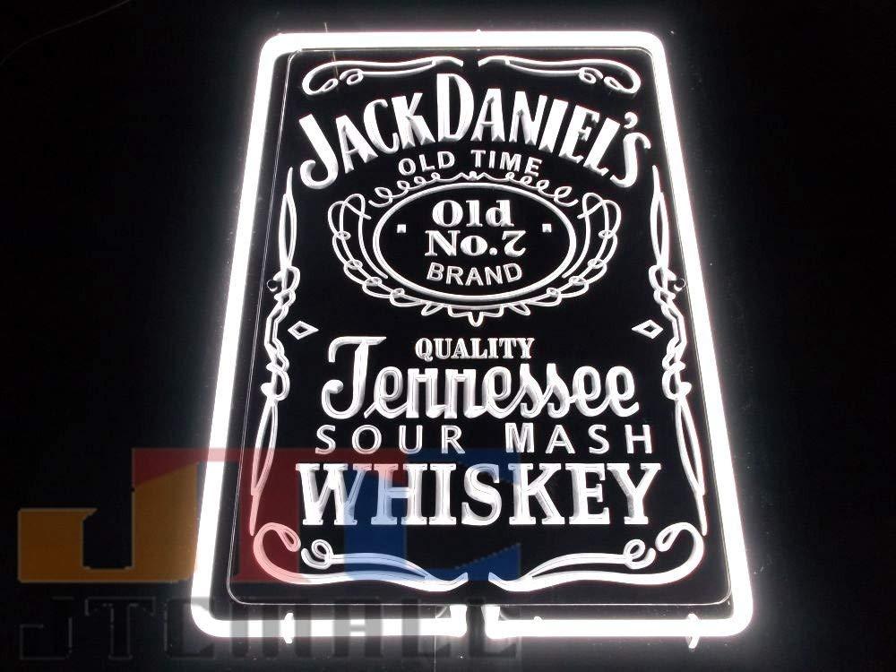 JACK DANIEL`S ジャックダニエル ジェネシー 特大 3D ネオン看板 ネオンサイン 広告 店舗用 NEON SIGN アメリカン雑貨 看板 ネオン管   B07NLK3TX1