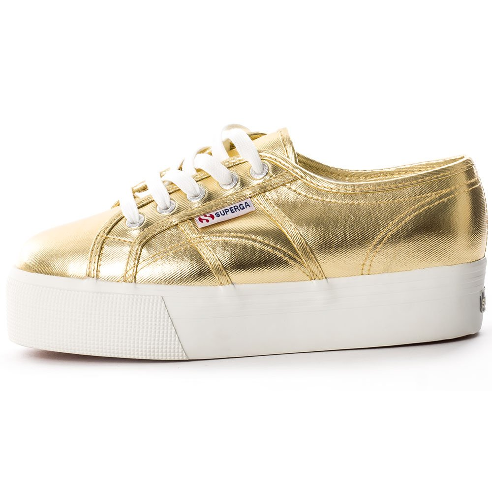 Superga Gold Damen 2790 Cotmetw Sneaker, Gold Superga 945740