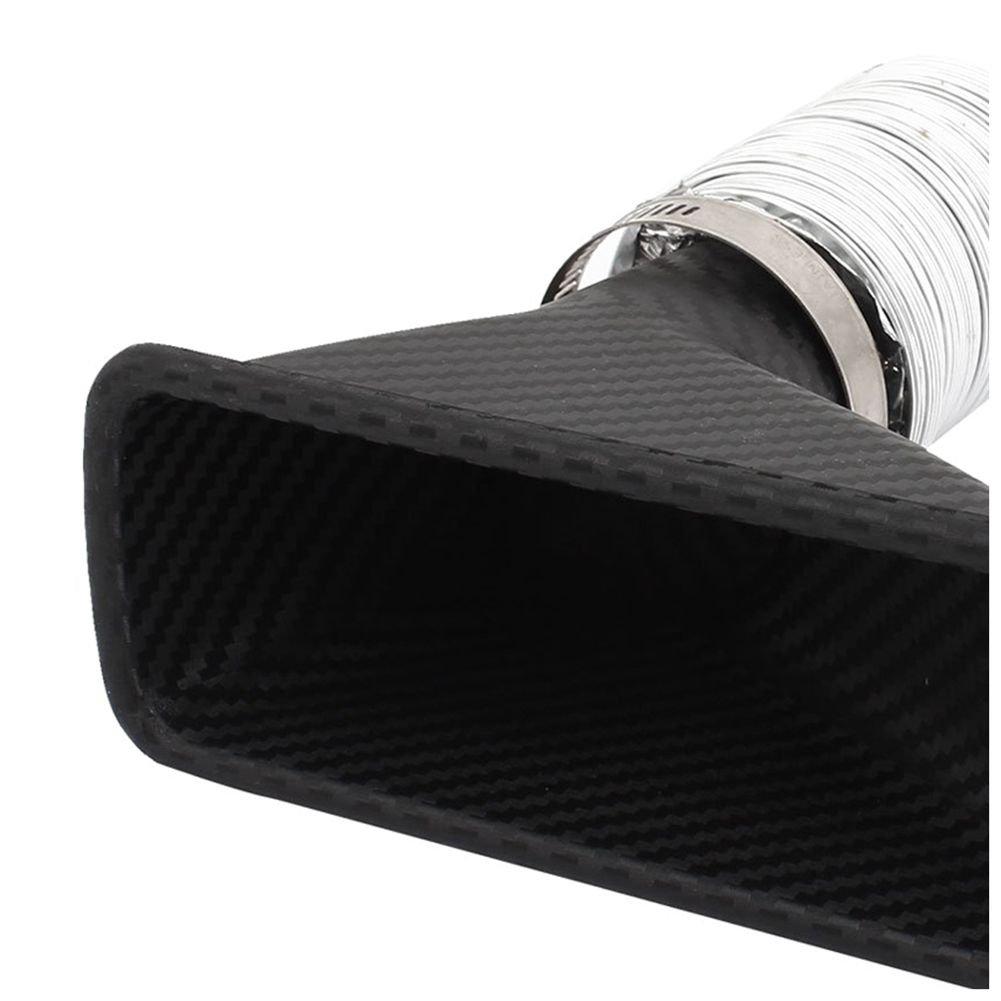SODIAL R Coche Tubo De Entrada Rectangulo Tipo Plastico Embudo De Aire
