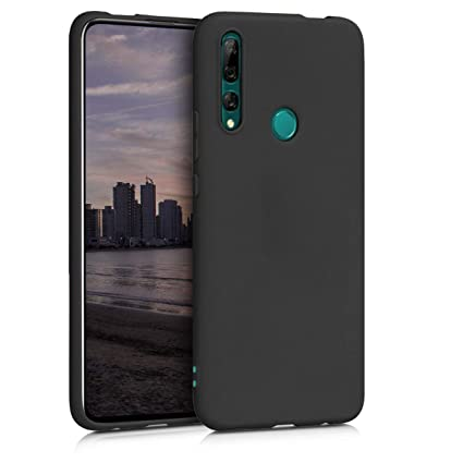 kwmobile TPU Silicone Case for Huawei Y9 Prime (2019) - Soft Flexible Shock Absorbent Protective Phone Cover - Black Matte