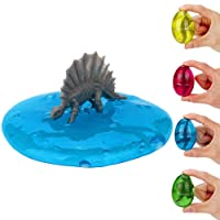 Swallowzy Dinosaur Eggs Putty, 4 Pack Egg Slime Crystal Clay Toy Scented Stress Relief Toy Sludge Toy for Kids