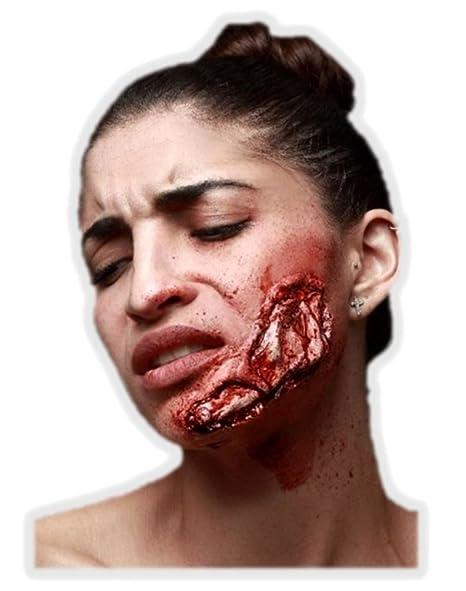 Trucco Halloween  ferita aperta sulla mascella  Amazon.it  Giochi e ... 004896a37331