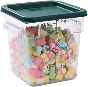 Met Lux Square Green Plastic Food Storage Container Lid - Fits 2 and 4 qt - 1 count box - Restaurantware