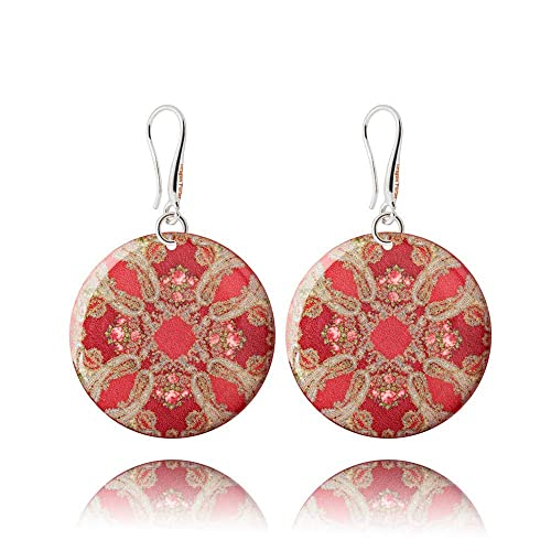 Bright Red Drop Earrings Birthday Fashion Gift For Girl Amazoncouk Handmade
