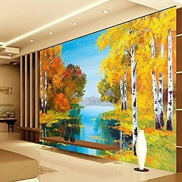 HUANGYAHUI Wandbilder Nordic Kreative Landschaft, Öl Malerei, Tapeten,  Tapete, Kunst, Amerikanische