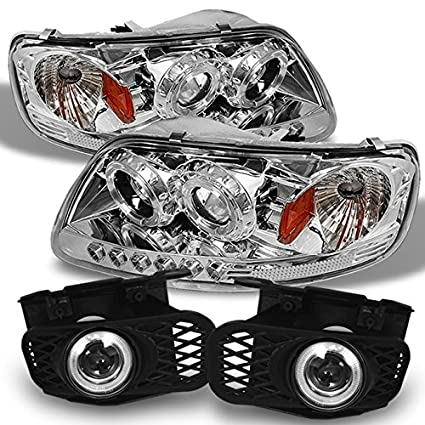 Amazon For 99 02 Ford F150 Expedition Halo Projector LED Headlights Fog Lights W Switch Bulb Automotive
