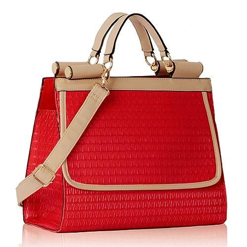 TrendStar - Bolso estilo cartera para mujer rojo Z - Red: Amazon.es: Zapatos y complementos
