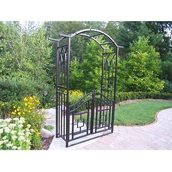 Amazon Com Oakland Living Royal Arbor With Gate Black