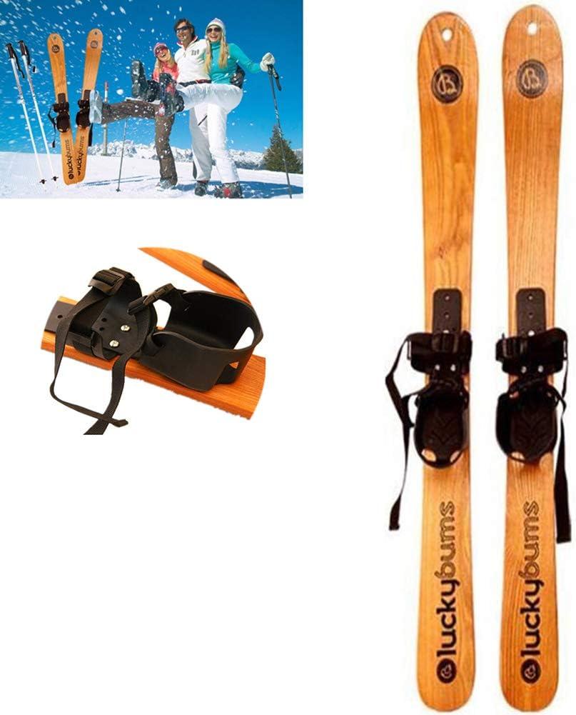 GWSPORT Esquí de Nieve De Madera Maciza, Tabla De Snowboard Profesional, Esquís, Trineo, Niños Adultos, Snowboard, Esquí Alpino, Esquí De Fondo