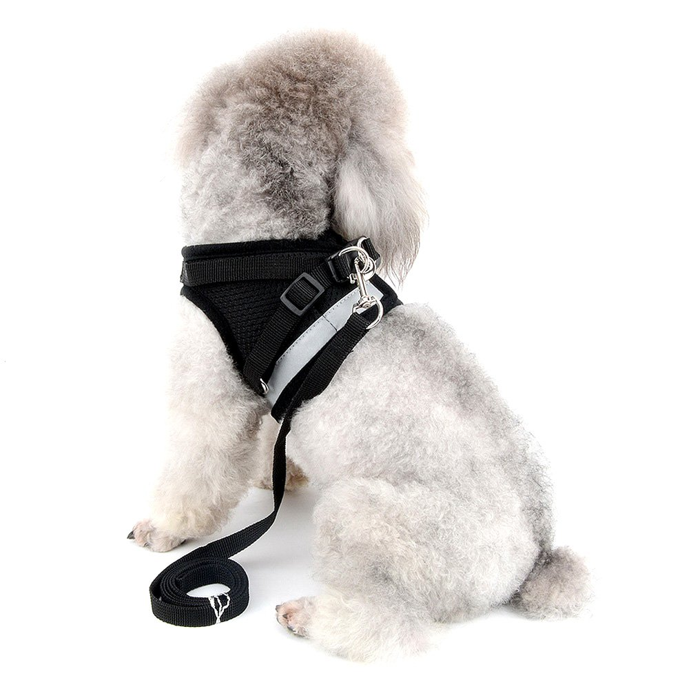 ZUNEA No Pull Step-in Dog Vest Harness, Reflective Soft Mesh Padded Design Puppy Dog Harness Leads Pet Dogs Kittens Cats Daily Walking Running Training S)