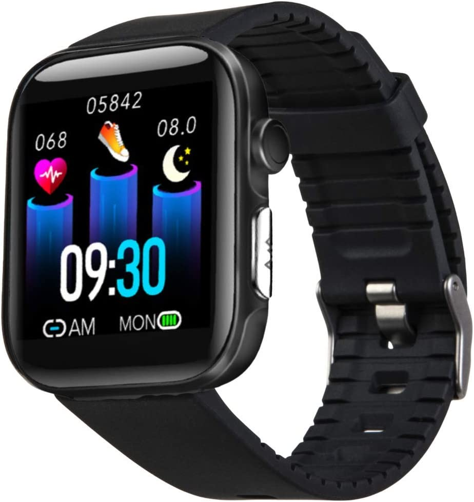 Serac Fit Smart Watch - Advanced Heart Rate, Blood Oxygen, Blood Pressure Tracker, Sleep Monitor, Apnea Alert technology-10 Sports Modes, IP68 Waterproof-Compatible with Android and iOS-Men and Women
