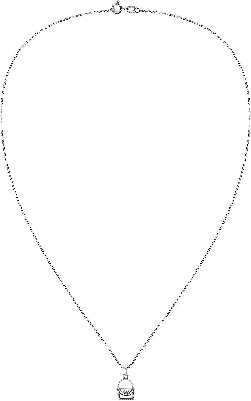 AeraVida Trendy Fashionista .925 Sterling Silver Handbag Pendant Necklace