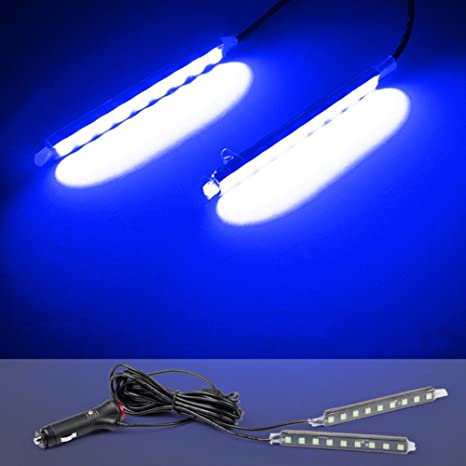 LNIMIKIY Tira de Luces LED para Interior de Coche, lámpara de pie de Auto para