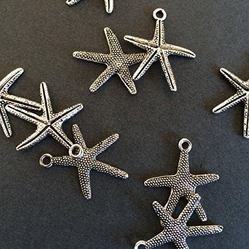 harm Pendants 26x22mm Stars Ocean Beach Nautical Charm (NS703) (Nautical Star Charm)