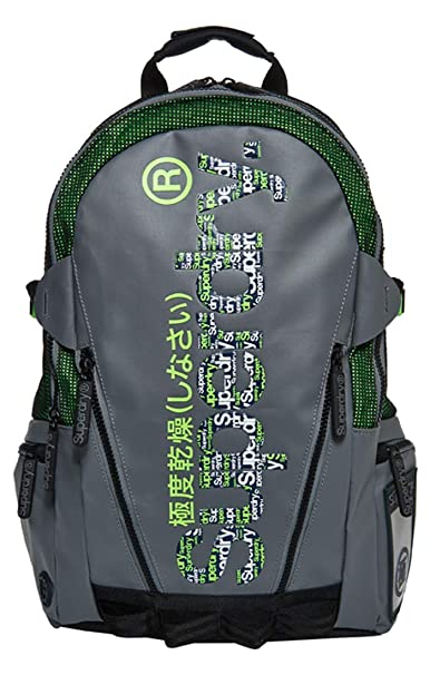 Superdry - Board Tarp Backpack, Hombre, Verde (Lime), 11x45x34 cm (