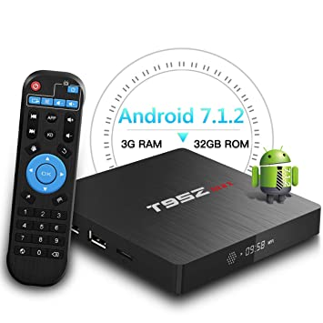 Android TV Box,T95Z MAX Android 7 1 Player 3GB RAM/32GB ROM Amlogic S912  Octa Core Media Box 2 4/5Ghz WiFi 1000M LAN Ethernet 64-Bit H 265 Bluetooth