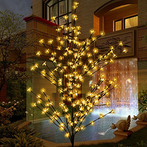 Outdoor Lighted Porch Trees - 3