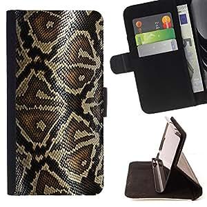 - REPTILE ART SNAKE NATURE SKIN PATTERN - - Prima caja de la PU billetera de cuero con ranuras para tarjetas, efectivo desmontable correa para l Funny HouseFOR Sony Xperia Z1 Compact D5503