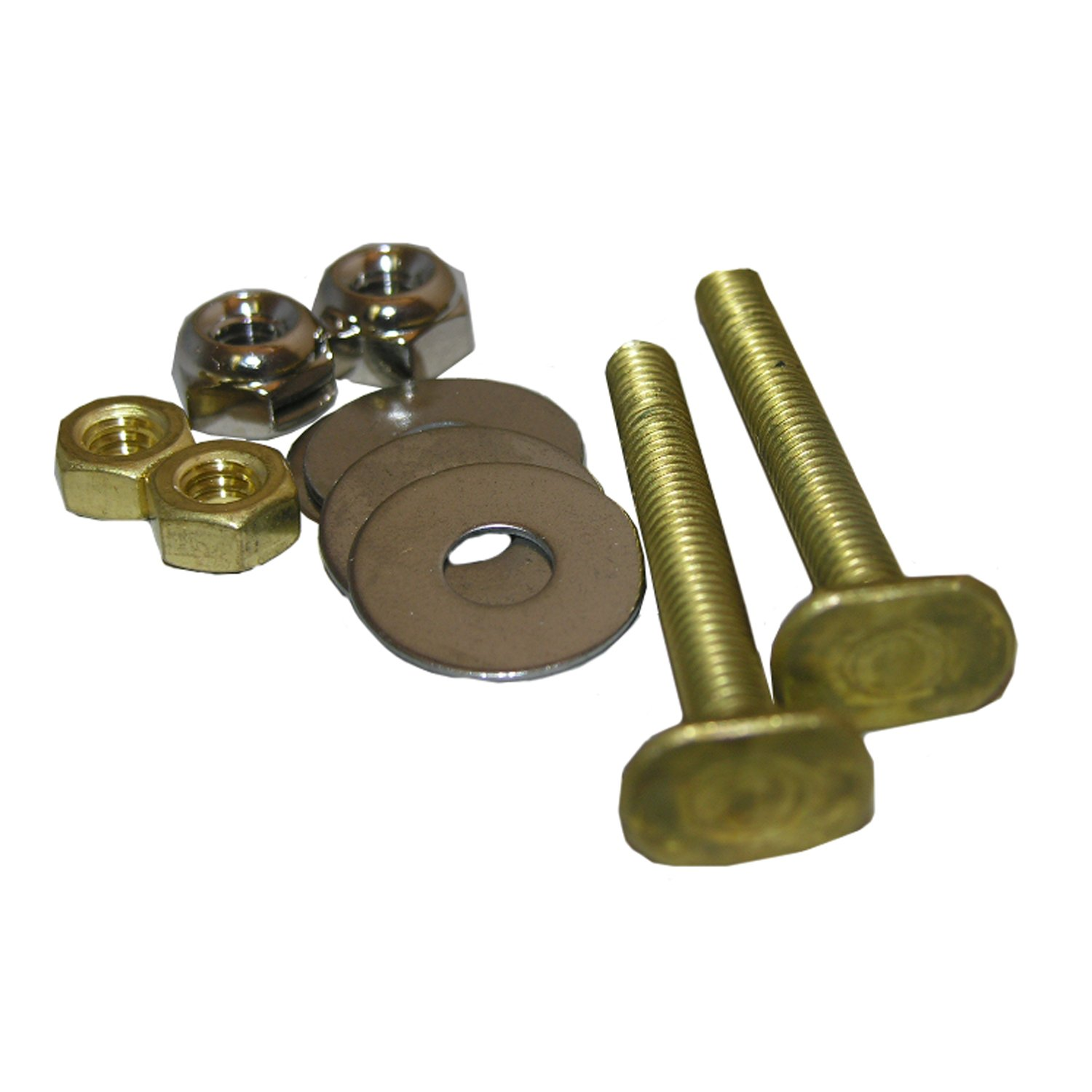 LASCO 04-3637-MASTER 634519 Code Approved Acorn Nuts and Stainless Steel Washers Toilet Bolts, 1/4'' x 2-1/4'' by LASCO