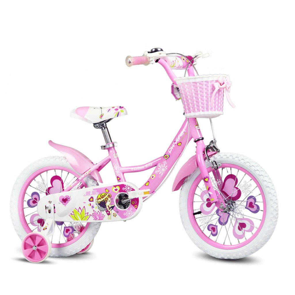 子供の自転車16/14/12/18インチの女の子の自転車2-8子供のベビーカー (色 : ピンク ぴんく, サイズ さいず : 18 inches) B07DCHK8SWピンク ぴんく 18 inches