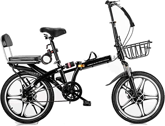 ZHEDYI Bicicleta Plegable, 16in / 20in Bicicletas De Una Sola ...