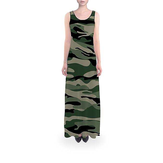 Amazon.com: Militar Camuflaje Flared Maxi vestido: Clothing
