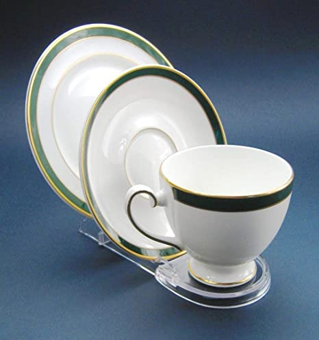 Display Stand Cup Saucer Plate Clear Plastic Support Amazon Extraordinary Cup And Saucer Display Stands
