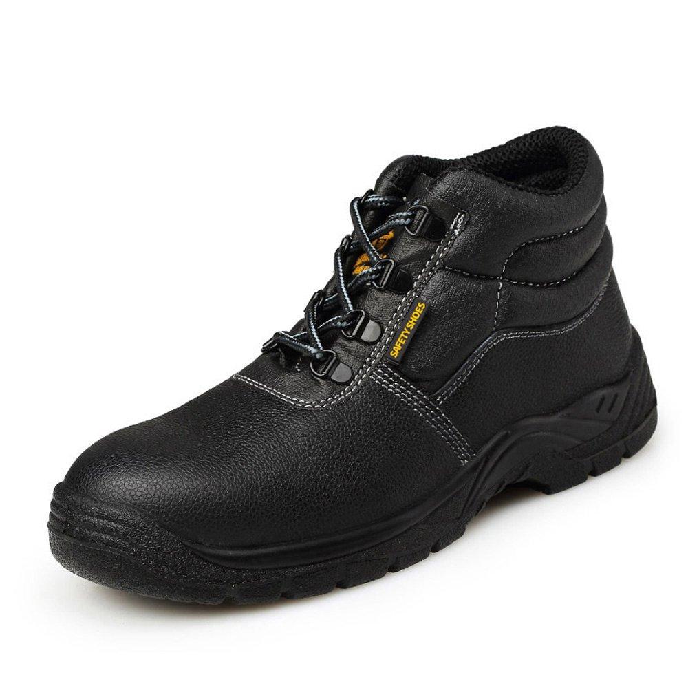 Men's Steel toe Comfortable Slip Resistant Work Shoe JACKBAGGIO 8806 (8.5) by JACKBAGGIO