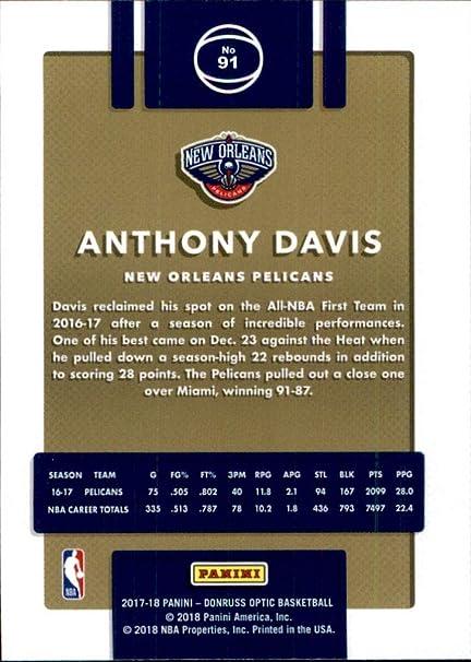 2017-18 Donruss Optic #91 Anthony Davis New Orleans Pelicans Basketball Card