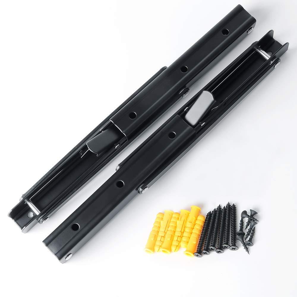3 mm d/épaisseur en acier inoxydable Noir mat Sayayo /étag/ère pliante support Heavy Duty pliable support d/étag/ère murale 300 mm * 175 mm 2 pcs EJZ7000B-12