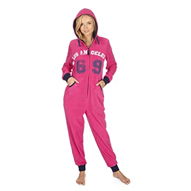 2004fb250ecf Ladies Anti-Pill Micro Fleece All-in-One Jumpsuit  Amazon.co.uk  Clothing