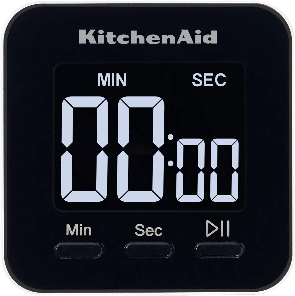 KitchenAid KQ900 Event Single Even Digital Timer, 2.5 inches, Black