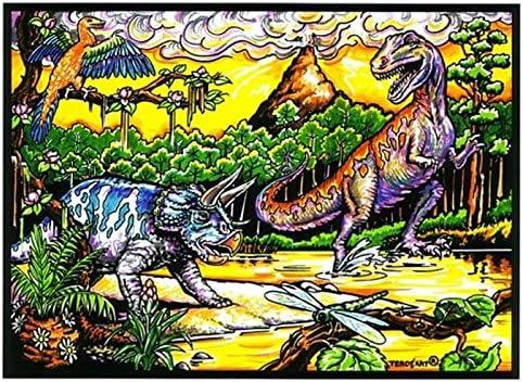 LAMINA PARA COLOREAR con caja de rotuladores. Dinosaurios III ...