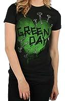 Green Day - - Nail Heart Mädchen T-Shirt in schwarz