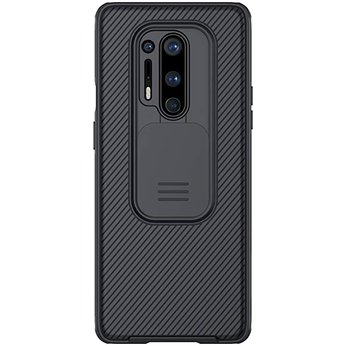 """Nillkin Case for OnePlus 8 Pro One Plus 8 Pro (1+8) Pro (6.78"""" Inch)  CamShield Pro Camera Close & Open Double Layered Protection TPU + PC Black  Color: Amazon.in: Electronics"""