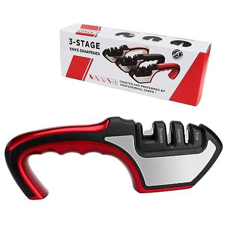 Afilador de cuchillos - Afilador manual profesional de 3 ...