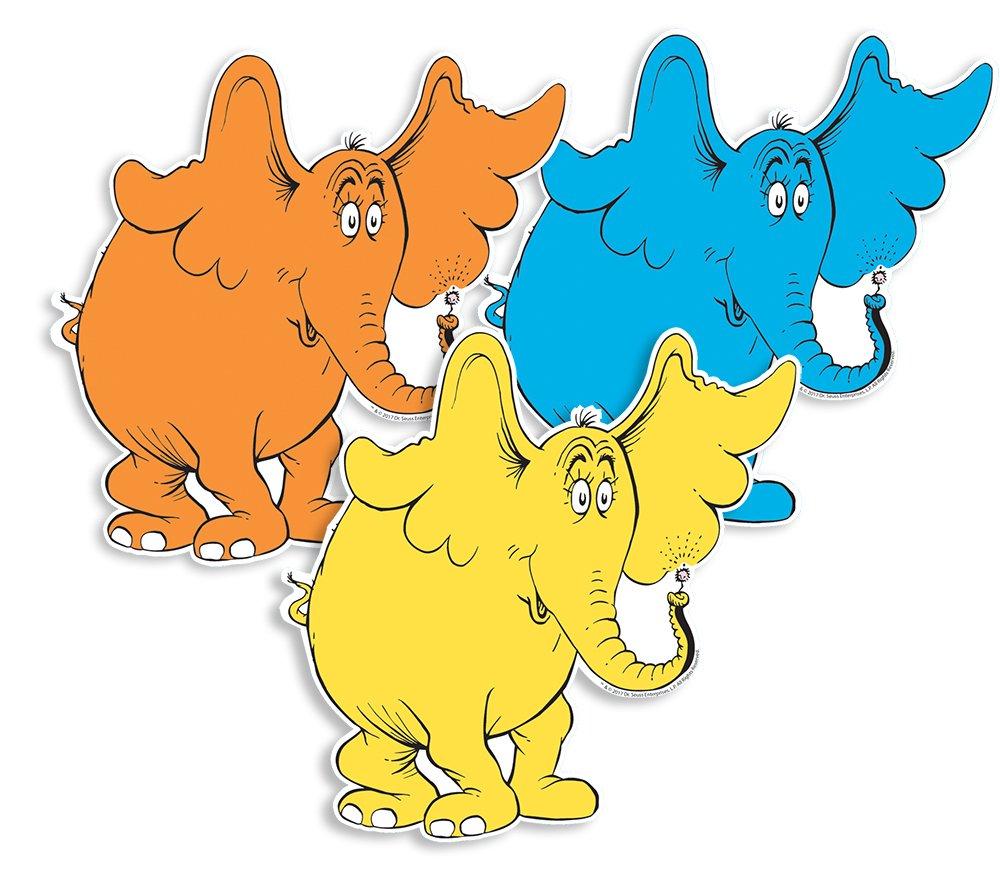 Eureka Back to School Dr. Seuss 'Horton Hears A Who' Paper Cut Out Decorations for Teachers, 36 pc, 5.5'' W x 5.5'' H