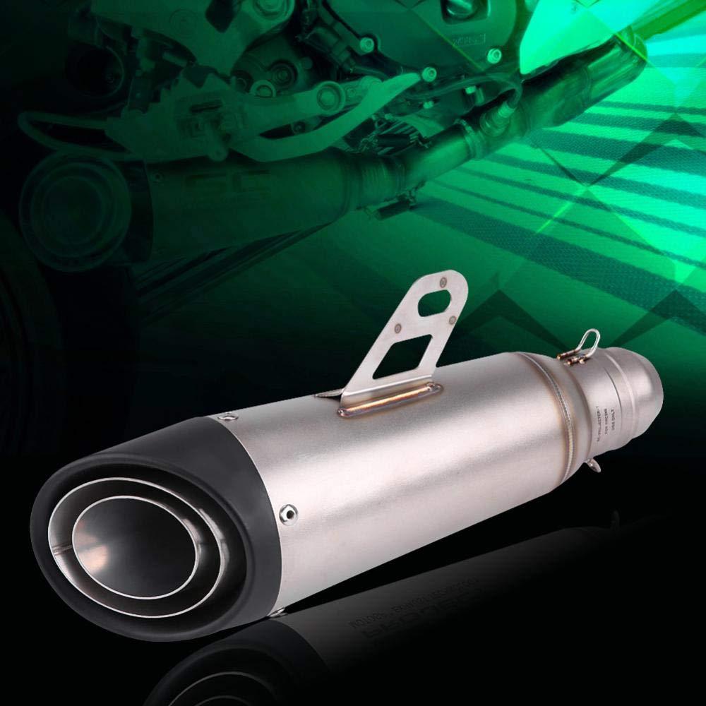 Zerone 38-51mm Tubos de Escape Universal Moto Buggy Modificado Escape Tubo de Silenciador de Escape con Adaptador