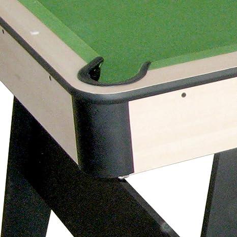 Devessport - Mesa de Billar plegable Manhattan - Fácil montaje - Incluye todos los accesorios para poder jugar - Patas reforzadas para mayor estabilidad - Ideal para jugar con amigos - Medidas: