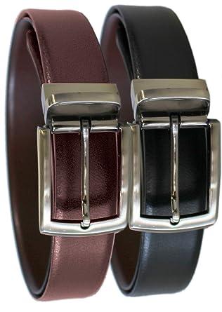 Rallegra - Cinturón de piel reversible para hombre, tamaño ...